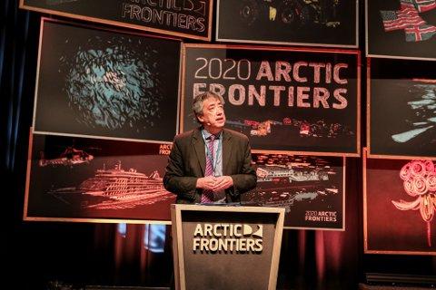 MER KONFLIKT: Bobo Lo, internasjonal analytiker og ekspert på internasjonalerelasjoner under åpningen av nordområdekonferansen Arctic Frontiers 2020.