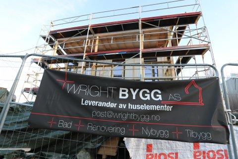 """BYGGER VIDERE: Wright Bygg AS byttet i vår navn til """"Bare Bringebær"""", og meldte i høst oppbud. Denne boligen i Kveldrovegen oppføres av morselskapet Wright Utvikling."""