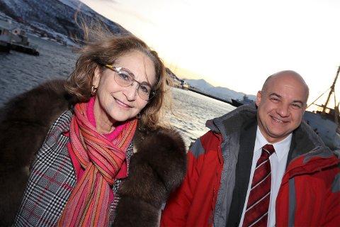 STORKAPITAL: Alice Rogoff og Russel Read besøkte i forrige uke Tromsø.