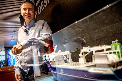 TENKER NYTT:Eier og daglig leder i NSK Ship Design, Kjartan Karlsen. leder  en bedrift som går egne veier.