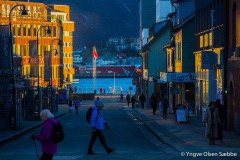 Nedturen i reiselivet: 4000 turister forsvant fra Tromsø over natta.  Foto: Yngve Olsen