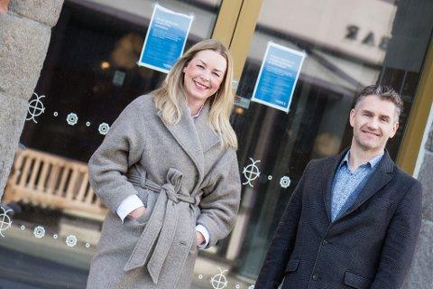 - IKKE KRAKK: Wenche Odden Kvamme, avdelingsleder i Eiendomsmegleren Nord-Norge, avdeling Tromsø Rødbanken og Torben Halse, avdelingsleder hos Eiendomsmegleren på Strandtorget.