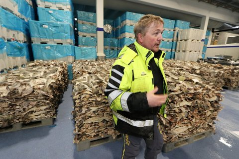 FORTVILER: Max Hansen, innkjøpsansvarlig på Karlsøybruket på Vannøya, fortviler over at Posten har stoppet transport av tempererte matprodukter i Nord-Norge. Bedriften hadde tidligere tre leveringer av fersk fisk til lokalt marked i Tromsø. Nå er det null.