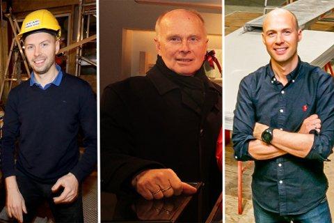 TRE BLAD WILLUMSEN: Andreas, Thoralf og Håkon Willumsen.