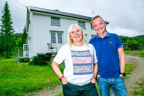 FERIE: Mariann og Jan-Frode Jansen på ferie i Salangen. I framtiden drømmer de om å jobbe sammen.