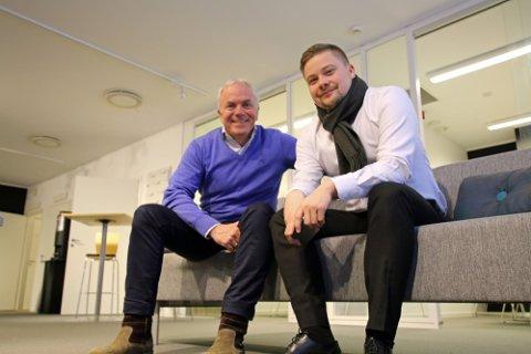 MILLIONUTBYTTE: To av meglerne som får 1,25 millioner kroner hver, Jon Rye-Holmboe (tv) og Espen Richardsen . Bildet er fra 2016.