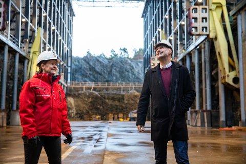 BEGIVENHETSRIKT 2021: Neste år åpner prosjektleder Elisabeth Eiternes og Moen Verft den nye dokkhallen på Purkholmen Industriområde.Per Olav Tyldum sikter på sin side mot et plass på Stortinget.