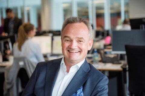 GRUNN TIL Å SMILE: Konsernsjef Jan-Frode Janson i Sparebank 1 SMN melder om solid resultat etter årets første kvartal.