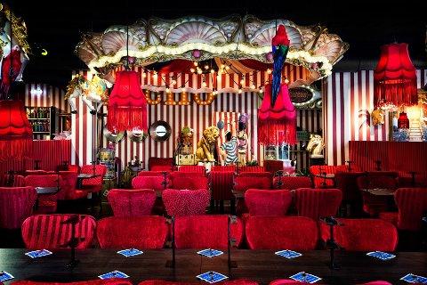 Slik ser de sirkus-inspirerte lokalene til restaurantkjeden ut.