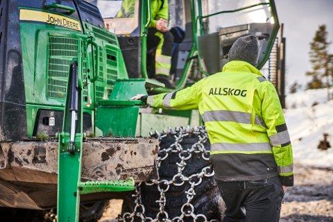 I PLUSS: I løpet av fjoråret leverte Allskog mindre tømmer enn tidligere. Skogsamvirket leverer likevel et sterkt årsresultat.