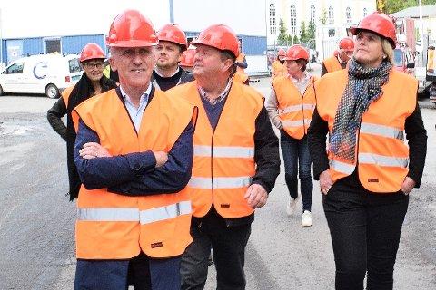 I FRONT: Atle Eide innstilles som ny styreleder i oppdrettsgiganten Salmar. Bildet er tatt i forbindelse med et besøk i Follafoss i 2020.