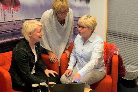 STEINKJER NÆRINGSSELSKAP: Fra venstre: Astrid Skogseth, Gunn Tangstad og Bodil Vekseth.