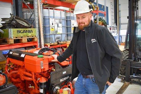 GRÜNDEREN: Ganske nøyaktig ett år har gått siden Lasse Berg fikk med seg en håndfull fagfolk og investorer i oppstarten av Maritim Power AS. Siden etableringen har den ferske bedriften rukket å doble arbeidsstokken.