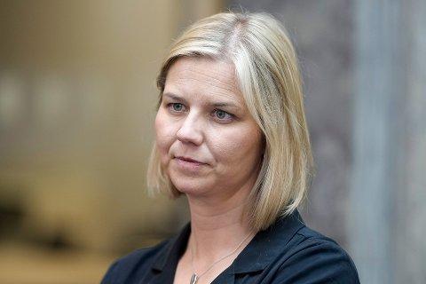 MILLIONDRYSS: Kunnskaps- og integreringsminister Guri Melby delte tirsdag ut nye millioner til innovasjon.
