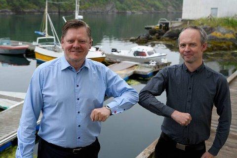 NY START: Administrerende direktør i KI Lasse Høyem (til venstre) og Kåre Johnny Hage, gründer og daglig leder for Gaula-virksomhetene, ser frem til det nye samarbeidet