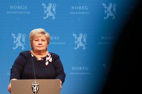 ÅPNER OPP: Statsminister Erna Solberg (H) kunngjorde fredag at Norge snart skal gjenåpnes.