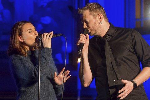 Stemmene: Nora Jabri og Knut Anders Sørum ga alt de hadde i den mektige «Mary, did you know».