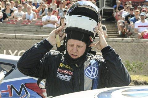 Tord Linnerud måtte se helgas VM-runde i rallycross i Canada fra tribunen. Arkivbilde