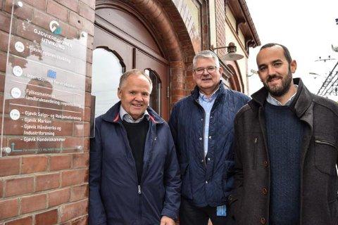 Gjøvikregionen Utvikling ruller nå ut et eget SMB-program i Gjøvik, Østre Toten, Vestre Toten og Søndre Land. F.v. Bjørn Iversen, Kai Henning Glæserud og Jogrim Ristebråten.