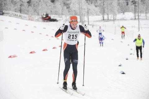 Suveren: Ansgar Evensen fra Vind sikret seg en andreplass i 17-årsklassen under norgescuprennene på Nes på Romerike. Arkivbilde: Tommy Gullord