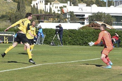 SCORET: Marcos Gondra Krug scoret for Raufoss, men måtte innse at Ranheim var et bedre lag og vant klart. Foto: Marius Mykleset