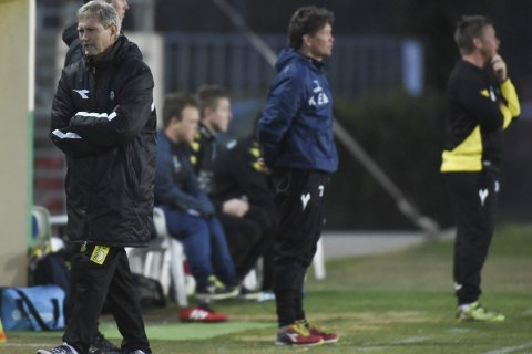 TILVENNING: Bryne-trener Gaute Larsen synes Raufoss har tatt riktige steg mot å tilvenne seg 1. divisjon under oppholdet på La Manga. Foto: Marius Mykleset