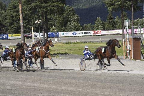 NORGESMESTER: Netherless Dream travet i teten og tok en klar seier i Norgesmesterskapet for hopper sammen med Svein Ove Wassberg.