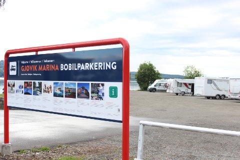 Brukerne er fornøyde med Gjøvik Marina Bobilparkering