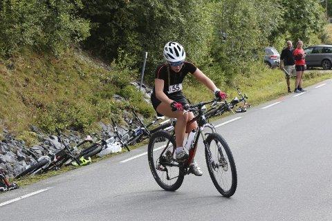 VINNER JENTER 17-20: Marte Lindmo fra Raufoss overbeviste på Tour de Synnfjell.Foto: Geir Norling.