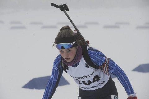 LOVENDE: Oda Støen Kolkinn er et flott skiskyttertalent.  Foto: Knut Befring