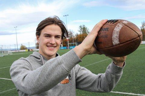 LANDSLAG: Sebastian Schjerven er tatt ut på U17-landslaget i amerikansk fotball.