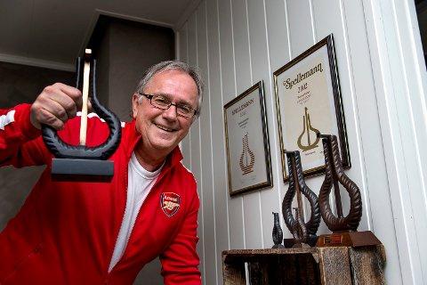 SPELLEMANN: Arnstein Tungvåg har i løpet av sine 40 år som frontmann i Dænsebændet hentet hjem tre Spellemannpriser. Den siste fikk han i nevene i 2014.