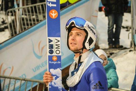 Fredrik Bjerkeengen ble nummer 12 og 13 i helgas norgescup i Vikersund. Arkivbilde