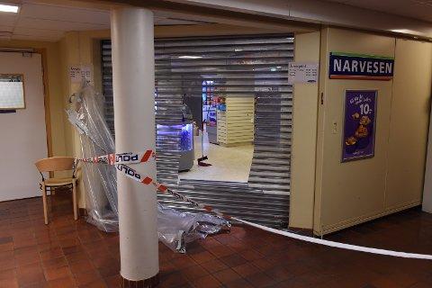 BRANN: Det oppsto brann i kiosken på sykehuset for to og et halvt år siden. Sykehuset Innlandet har fått pålegg om at kiosken må være egen branncelle. (ARKIVBILDE)