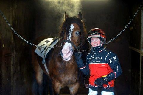 Kristine Kvasnes, kusk og Monte rytter.