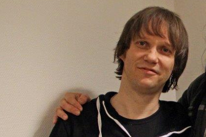 Musikeren Tore Østby bor for tiden i Stockholm Arkivbilde