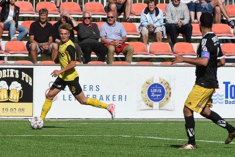 Snorre Strand Nilsen fikk sin seriedebut for Raufoss mot Bærum. Mot Alta debuterer han trolig fra start på høyrebacken. Foto: Marius Myklset