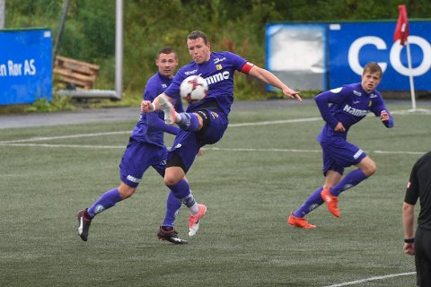 Kristian Lønstad Onsrud spilte en meget god kamp for Raufoss mot Finnsnes.