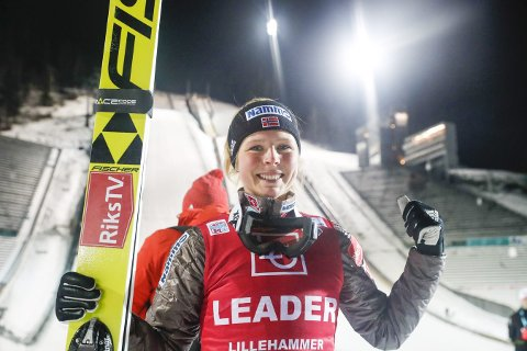 Maren Lundby gjorde en solid hoppkvalifisering i Sapporo. Foto: Terje Bendiksby, NTB scanpix