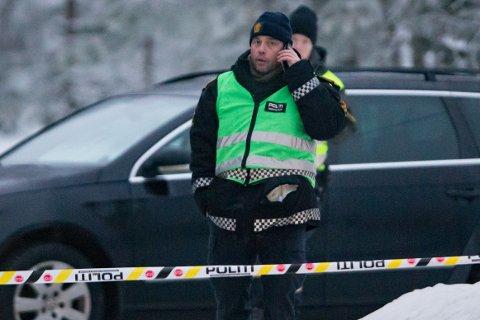 Innsatsleder i politiet, Frode Hjulstad, under søket etter savnede Janne Jemtland i Glomma i Våler lørdag.