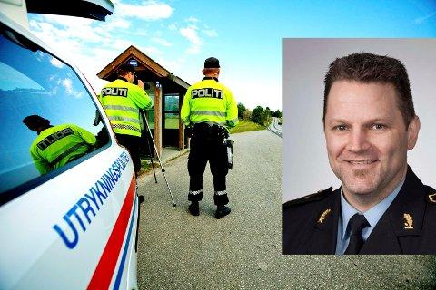 SJEF I UP: Kai Voldengen (innfelt) har fått jobben som distriktsleder i utrykningspolitiet , distrikt øst.