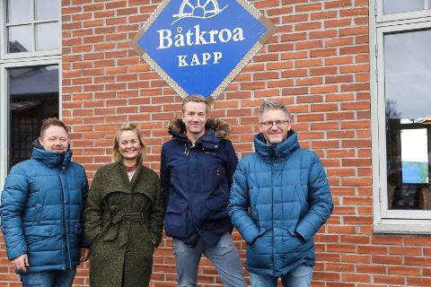 ETTER ETT ÅR: Thomas Nyland, Anne Marthe Zettervall, Paul Håvard Østby og Torbjørn Dyrud står bak Fjorn.