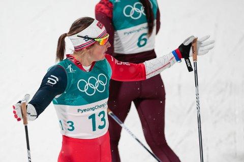 Ingvild Flugstad Østberg er blant fire morske jenter med medaljesjanser på 10 kilometer i fri teknikk fredag morgen. Foto: Lise Åserud / NTB scanpix