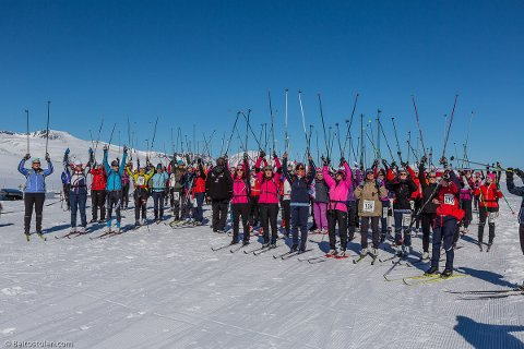 For femte gang starter skirennet Rjupesleppet på toppen av Valdresflye. Foto: Privat