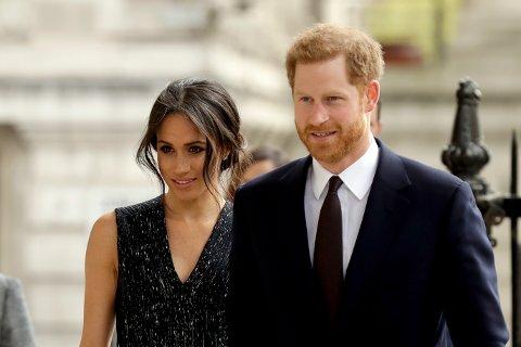 NRK-journalistene holder sin egen Facebook-sending når prins Harry og Meghan Markle gifter seg lørdag. Foto: Matt Dunham / AP / NTB scanpix.
