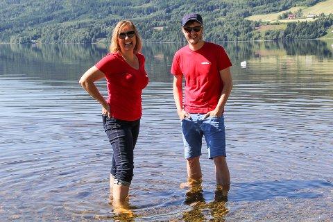 I FLYTEN: Kristin Brynjulvsrud og Mattis Myrland i FjordFlyt ser fram til nok en superdag i Perlevika førstkommende lørdag.
