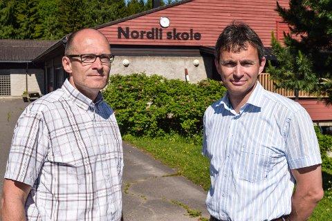 PERFEKT: Nordlia er perfekt for boligkjøpere som vil bosette seg nært attraktive arbeidsmarkeder i Gjøvik og Østre og Vestre Toten, mener to av artikkelforfatterne, Vidar Evenrud Seeberg (t.v.) og Tomm Martin Døsen.