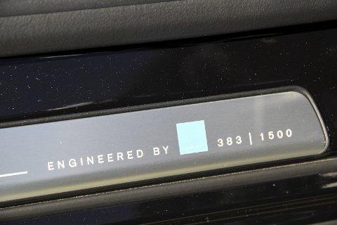 Nummerert: Kun 1500 Polestar V60 og S60 er produsert. Anders Østliens er nummer 383.