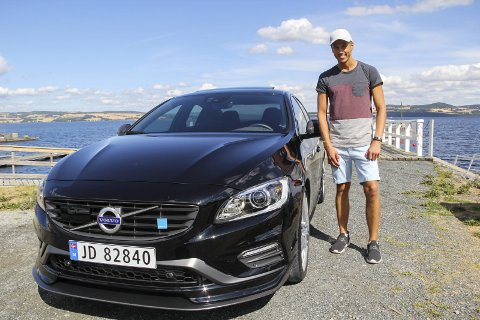 Diskret råtass: Den ser ut som en hvilken som helst Volvo S60, men Anders Østliens Polestar er alt annet enn ordinær. foto: frode hermanrud
