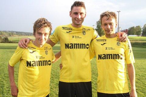 GREP SJANSEN: Fredrik Bjørnerud, Marius Alm og Fredrik Monsen var gode den omgangen de fikk spille for Raufoss mot Kolbu/KK.